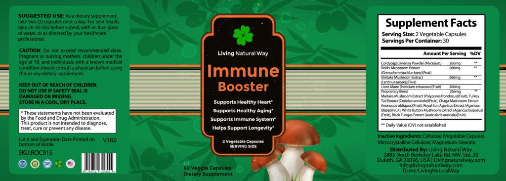 Immune Booster IR Label